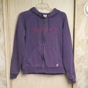 Carhartt Tops - Women'S purple carhartt hoodie jacket M 8/10